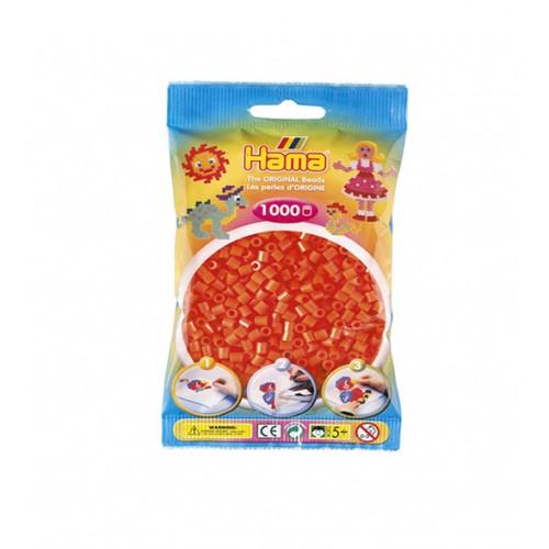 Hama BH20704 Perle mattonicini decorativi 1000 pezzi colore: Arancione