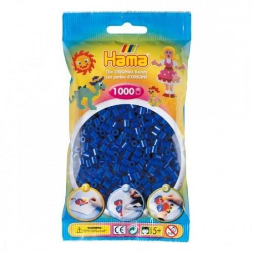 Hama BH20704 Perle mattonicini decorativi 1000 pezzi colore: Blu scuro