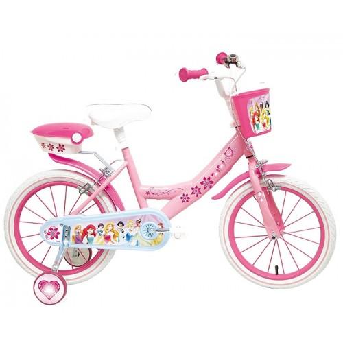 Mondo Bici Bicicletta Principesse Taglia 14  con rotelle incluse per Bambina 5-7 anni