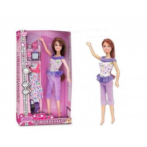 Bambola Principessa Crea il tuo stile 30 cm con accessori
