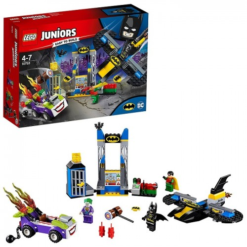 Lego 10753 Juniors The Joker Attacco alla Bat-Caverna