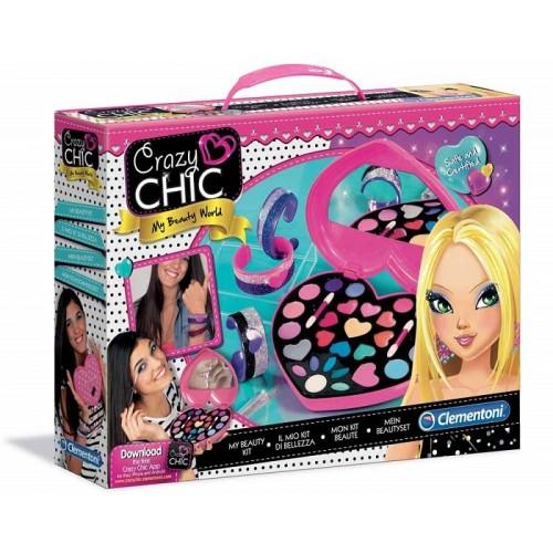 Clementoni Crazy Chic 15158 - My Beauty World Set, Il Mio Kit di Bellezza