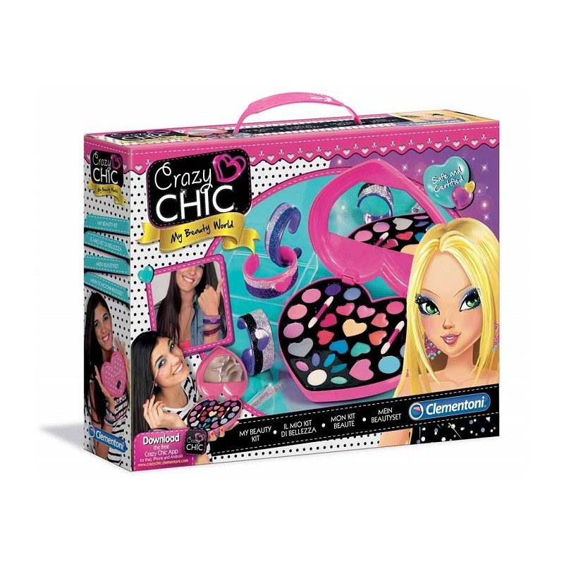 Clementoni Crazy Chic 15158 - My Beauty World Set, Il Mio Kit di Bellezza