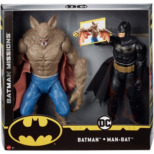 Batman vs Superman FVM63 Personaggi articolati da 30cm Batman vs. Man-Bat Due
