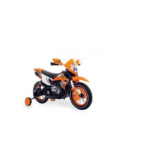 Teorema 66241 Motocross 6V cavalcabile con Luci e Suoni Colore Arancio
