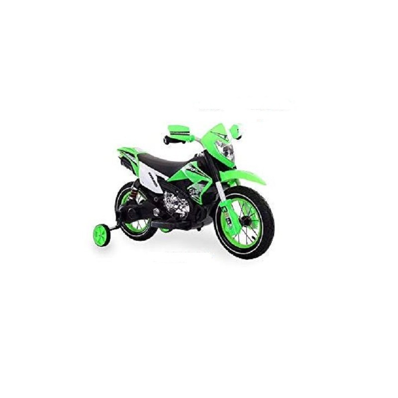 Teorema 66241 Motocross 6V cavalcabile con Luci e Suoni Colore Verde