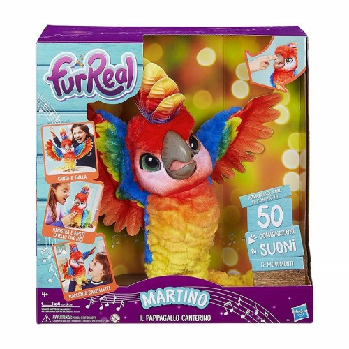 Hasbro E0388103 FurReal Martino il pappagallo canterino