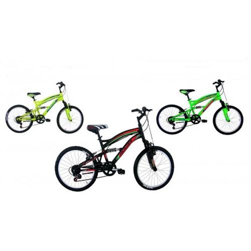 Bici Bicicletta Bambino Mountain Bike Biammortizzata taglia 20 con 6 velocità