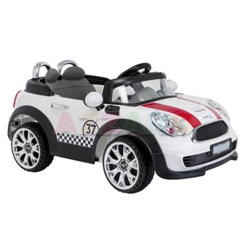 Aziamor Auto Elettrica Mini Cooper Bambino 12v Con Telecomando Luci e Suoni Mp3
