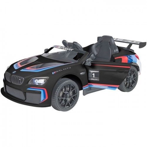 Globo Macchina Auto elettrica Per Bambini 12 V Bmw M6 Sport Gt3 colore nero con Radiocomando