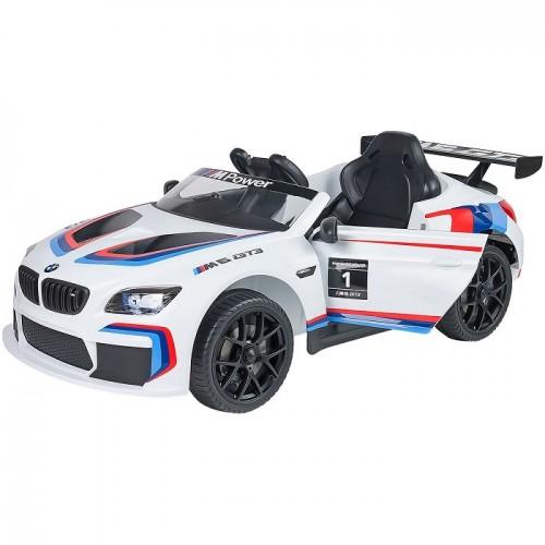 Globo Macchina Auto elettrica Per Bambini 12 V Bmw M6 Sport Gt3 colore Bianco con Radiocomando
