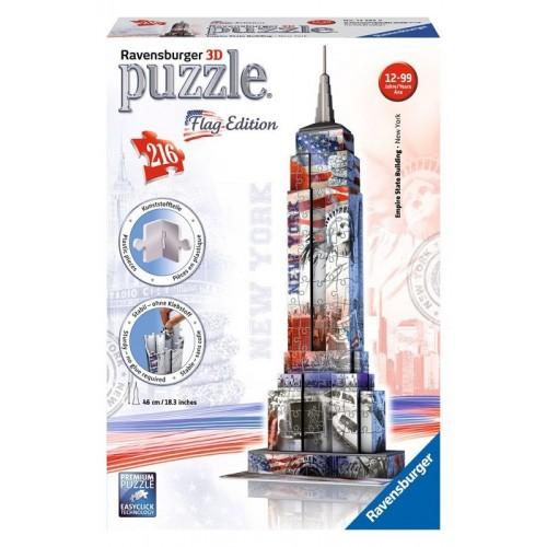 Ravensburger 12583 Puzzle 3D Building Empire State Bulding Flag Edition