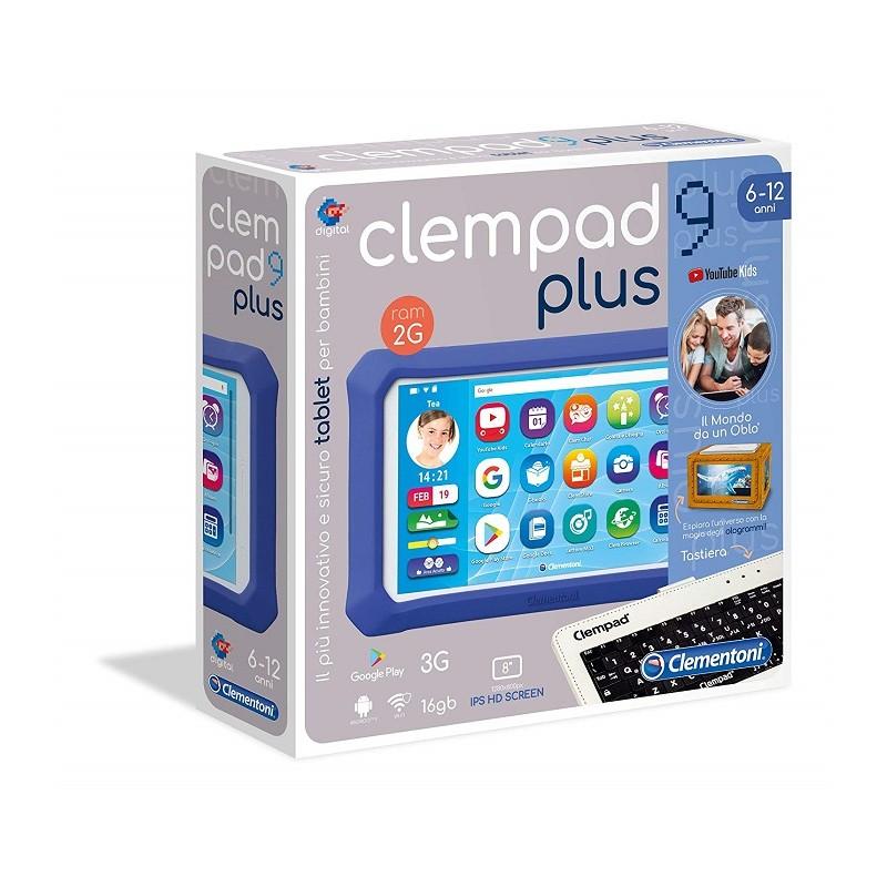 Clementoni 16619 Clempad 9 Plus Tablet per Bambini Versione 2019