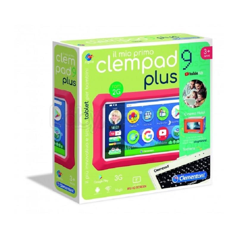Clementoni 16620 Il Mio Primo Clempad 9 Plus Tablet per Bambini Versione 2019