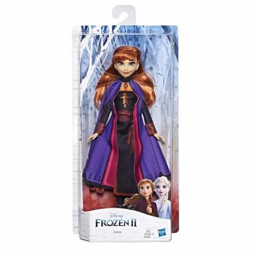 Disney Frozen 2 Anna Fashion Doll con capelli lunghi e abito blu