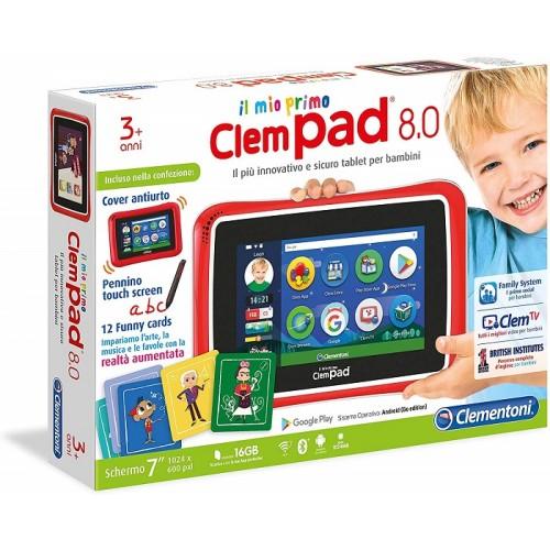"Clementoni 16610 Il Mio Primo ClempadGO 7"" 8.0 Clempad 8 Tablet per bambini 3 anni +"