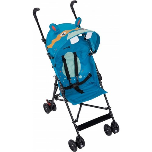 Safety 1st Crazy Peps Passeggino pieghevole leggero con capottina Unisex Bambini Ippopotamo Blu