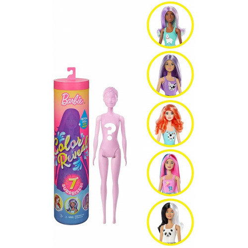 Barbie Color Reveal Assortimento a Sorpresa Vestito e Acconciatura