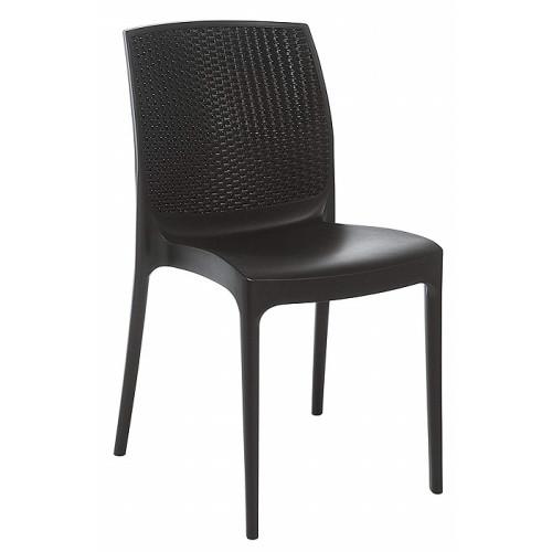 Grandsoleil sedia impilabile polimerico antracite, 56 x 46 x 84 cm