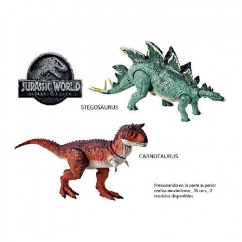 Mattel Jurassic World Dinosauro Ispirato al Film Personaggio a scelta: T-rex, Carnotauro, Stegosauro