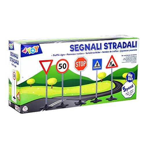 W' Toy 38307 Cartelli Stradali 5 Pezzi 7.5x7.5x1 cm
