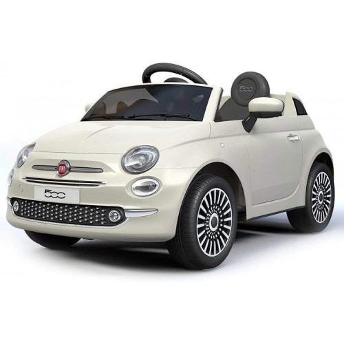Colibri Auto Elettrica Fiat 500 con Telecomando Parentale Bianca