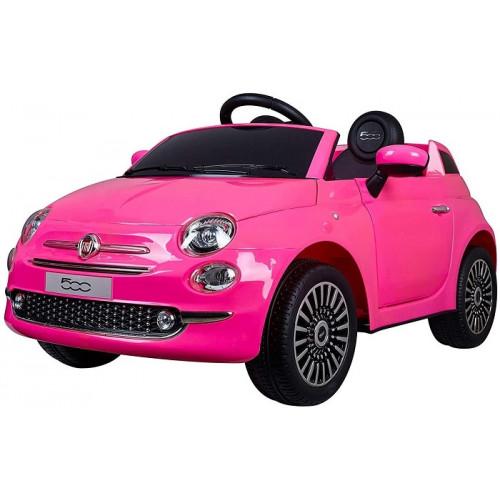 Colibri Auto Elettrica 12 V Fiat 500 colore Rosa con Telecomando