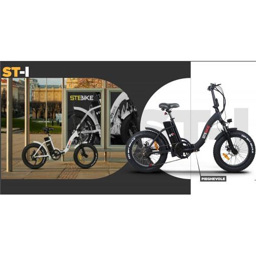 Bici elettrica StepBike ST I Pieghevole con Forcella Ammortizzata