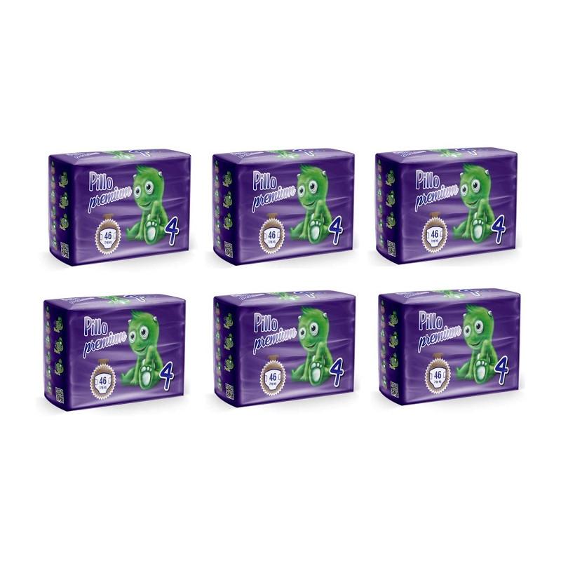 Pillo Premium Maxi Taglia 4 (7-18 Kg) 6 Pacchi Offerta 276 Pannolini