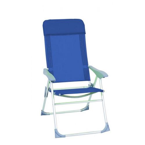 Sedia Poltrona Relax in alluminio Reclinabile 5 posizioni