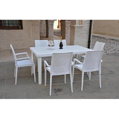 Grand Soleil Tavolo Boheme Rettangolare Polipropilene 150X90 Bianco