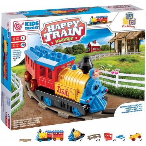 Rs Toys Playset Pista Treno Bambini Kids Target Happy Train Costruzioni