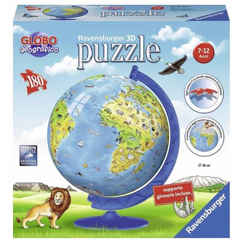 Ravensburger Puzzle 3D Mappamondo 180 Pezzi