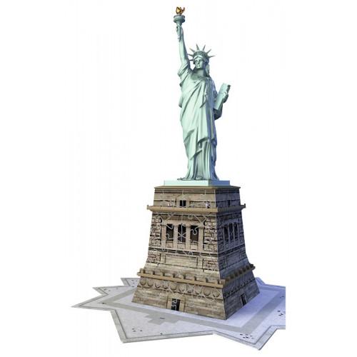 Ravensburger 12584 Statua della Libertà Puzzle 3D Building da 108 Pezzi