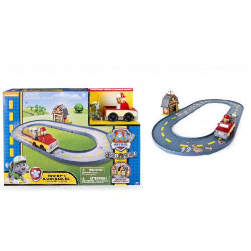 Spin Master Paw Patrol Bay Adventures Marshall Rescue Mission On a Roll Playset Pista