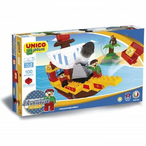 Unicoplus Nave dei Pirati Mattoncini e Costruzioni Multicolore