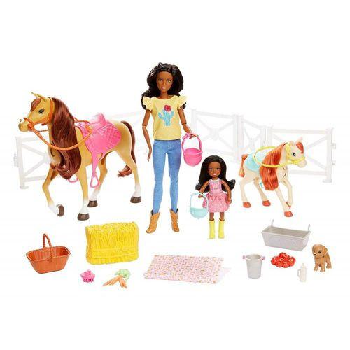 Barbie Maneggio Playset con Chelsea Due Cavalli con Accessori