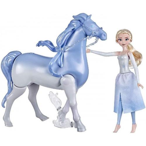 Hasbro Frozen 2 Elsa e Il Cavallo Nokk Elettronico