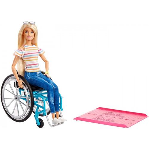 Barbie GGL22 Fashionistas Bambola in Sedia a Rotelle 3+ Anni