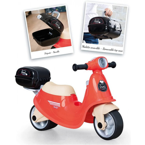 Smoby- Scooter Cavalcabile Food Delivery Rosso