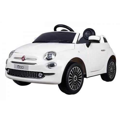 Aziamor Auto Elettrica Fiat 500 12V Colore Bianco Con Telecomando Parentale