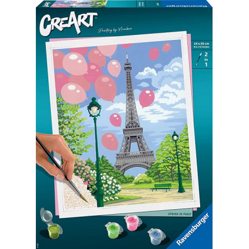 Ravensburger CreArt, Dipingere con i Numeri Adulto, Primavera a Parigi